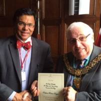 Professor R. Rajan and the Major of Derby