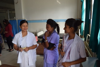 Nurses on the surgical ward