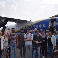 Team Neverest on the way to Chitwan