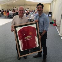 The winning bid for Sir Bobby Charlton's shirt, Mr Adeel Ikram.