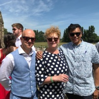 Neverest Founders Professor Rohan Rajan and Mr James Metcalfe with Mrs Kate Ananda-Rajan
