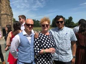 Neverest Founders Professor Rohan Rajan and Mr James Metcalfe with Mrs Kate Ananda-Rajan