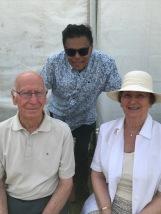 Sir Bobby and Lady Norma Charlton with Professor Rohan Rajan