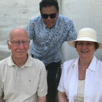 Sir Bobby and Lady Norma Charlton with Professor Rohan Rajan
